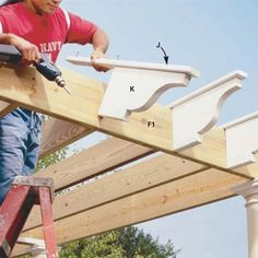 Step-by-step guide to building a pergola over your patio. This really looks easy enough to be a DIY project.
