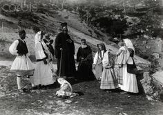 Greek parish priests and their families rest in a field-Fred Boissonnas National Geographic Images, Rich Image, Photo Library, Image Collection, Priest, Royalty Free Photos, Image Search, Greece, Stock Photos