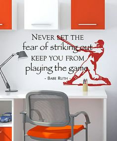 Create a nurturing atmosphere in the playroom with this inspiring wall quote decal that's guaranteed to perk up the mood and put a smile on little faces every day.