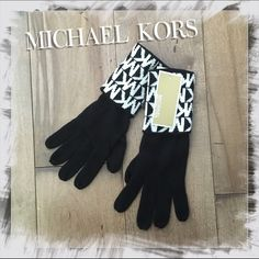 MICHAEL KORS • Fall/Winter Gloves Black White NWT Brand new with tags. 100% acrylic.  One size.  Retail: $42.  Perfect Christmas Gift!  Michael Kors Accessories Gloves & Mittens