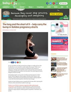 #Solidea on @babyology ! The long and the short of it – help carry the bump in Solidea pregnancy shorts.  #press