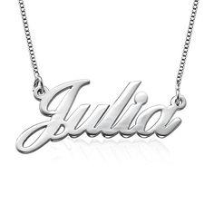 925er Silber Namenskette in Schreibschrift - Personalisiert mit Ihrem  eigenen Wunschnamen!  mädchen  schmuck f257715d27