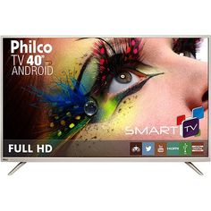 "Foto 1 - Smart TV LED 40"" Philco PH40F10DSGWAC Full HD com Conversor Digital 2 HDMI 2 USB Wi-Fi"