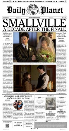 """A special edition of the Daily Planet celebrating the hit CW series, """"Smallville."""""""