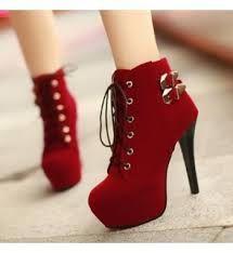 Details about Women's Stiletto Heels Buckle Shoes Platform Lace Up Platform Ankle Boots Pumps Pretty Shoes, Beautiful Shoes, Cute Shoes, Me Too Shoes, Beautiful Pictures, Red High Heels, High Heel Boots, Heeled Boots, Shoe Boots