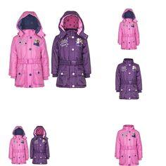 0743031782872 | #FROZEN Die #Eiskönigin #ELSA #ANNA #Winter #Jacke #Mantel #Kapuze #Gürtel #lila #rosa #Gr.104-128 #(104, #pink)