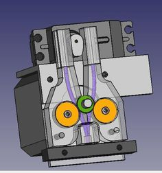This is a an attempt to build a simple dualstrusion mechanism, using a single motor and single hot end. The idea was to provide with a simple upgrade possibility to many people who have a single extrusion setup. And keeping the cost low and fun high while at it!! Right now i am designing for a direct-drive setup. But this can be easily modified for a Bowden type extrusion setup. Also for the cooler, I am using an aluminium block with a heat-sink. (custom design) but if you wanted to use a…