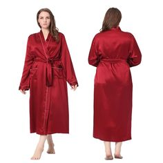 Mulberry Silk #Robe Claret #Plus Size,Which is Super Lofty.| Lilysilk