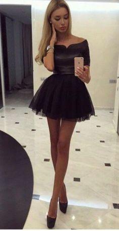 cute girl wearing a short skirt with no underwear  dress