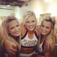 REPIN if you love college cheerleading! For all things cheerleading and more, check out CheerleadingInfoCenter.com. Photo: Florida State Cheerleaders :-)