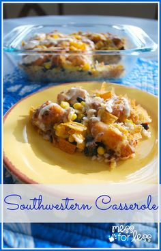 Southwestern Cassrole - Easy dinner recipe and a great way to liven up chicken. Yummy! #chicken #dinner #recipe