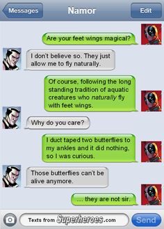 It's not murder if it's for science.  http://textsfromsuperheroes.com/