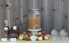 Such a great party idea! Apple cider bar