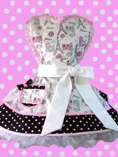 Retro Apron Paris Glitter    Pin Up Style..I want this!!!