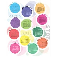 942-circle-block-creative-2015-Vector-Calendar.jpg (660×660)