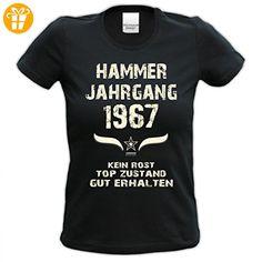 Lustiges Damen T-Shirt zum Geburtstag - Hammer Jahrgang 1967 - witziges bedrucktes Lady Hemd als Geschenk für Frauen, Größe:S (*Partner-Link)