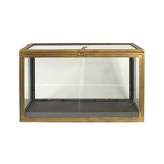 The secret treasure is secret no more! Get inspired by this gorgeous transparent chest that showcases its contents like pieces of art. Constructed of sleek wood and metal that's been painted gold, this...  Find the Transparency Chest, as seen in the An Urban Home for the Holidays Collection at http://dotandbo.com/collections/styleyourseason-an-urban-home-for-the-holidays?utm_source=pinterest&utm_medium=organic&db_sku=103281