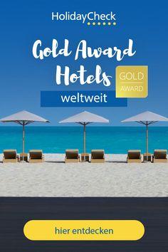 Hier findet ihr die beliebtesten Hotels mit dem HolidayCheck Gold Award 2020. Diese Hotels sind bei unseren Urlaubern besonders beliebt: Sie haben mindestens 5 Jahre in Folge den HolidayCheck Award erhalten. Unsere Top 10: Natürlich. Hotel mit Charakter, Landhaus Meine Auszeit, Feldhof DolceVita Resort, Hotel SeeRose, Hotel Patrizia, Hotel Schwaighof, AktivHotel SantaLucia, Montara Suites Bodenmais, Hotel Schloss Thannegg-Moosheim & Thermenhof PuchasPLUS Loipersdorf.  #goldaward… Am Meer, Best Sellers, Hotels, Dominican Republic, Winter Vacations, The Maldives, Summer Vacations, Vacation Travel, Time Out