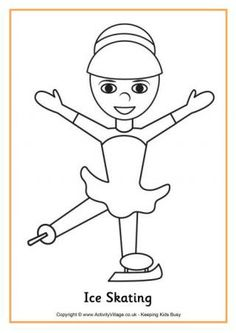 Ice Skater Coloring Page Best Of Ice Skating Colouring Page The Effective Pictures We Offer You About Winter Sports Crafts for Toddlers A quality picture c Whale Coloring Pages, Free Coloring Pages, Toddler Art Projects, Toddler Crafts, Free Thanksgiving Coloring Pages, Olympic Crafts, Sport Craft, Hockey Goalie, Ice Skaters