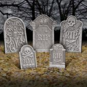 Value Pack Tombstone Decorations - Party City