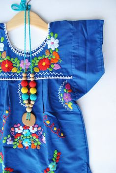 Mexican Toddler Embroidered Dress.