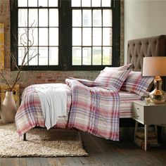 Romance Stripes And Plaids Pink Bedding Set Teen Bedding Dorm Bedding Bedding Collection Gift Idea Pink Bedding Set, Teen Bedding, Modern Bedding, Pillow Shams, Pillows, Rounded Rectangle, Flat Sheets, Floral Style, Bedding Collections