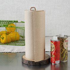 Raw Wood Paper Towel Holder | west elm $29