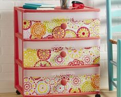 Crafting - Waverly chalk painted three-drawer cart -  Tutorial on how to make this at Walmart.com