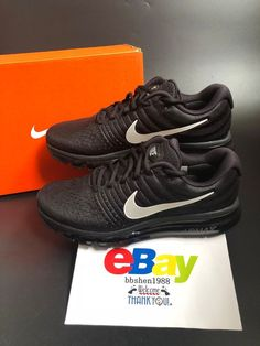 2e205aa1bf9a63 Nike Air Max 2017 Men s Running Shoes Sneakers Trainers 849559-001 Black  White  Nike  RunningShoes