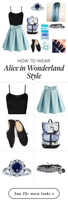 """""""Jamie"""" by elephants4life on Polyvore featuring WearAll, Chicwish, Wet Seal, INDIE HAIR, FOSSIL, Kobelli, Kate Spade and Disney"""
