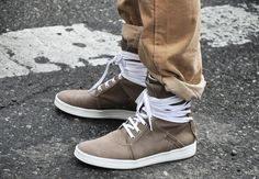 Dior Homme - overly laced ankles sneakers