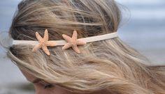 Starfish Headband with TWO Starfish Hippie Headwrap Mermaid Hair