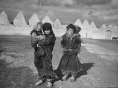 Margaret Bourke-White | Syrian Children Outside the Walled In, Beehive Shaped Houses of This Old Phoenician City