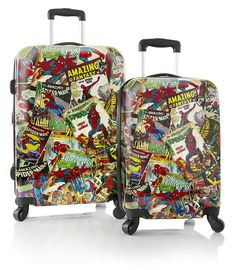 Marvel Comics Spiderman Lightweight 2-PC Hardside Expandable Spinner Luggage Set -- Click image to review more details. (This is an Amazon Affiliate link)
