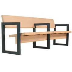 Gerrit Rietveld Church Pew | From a unique collection of antique and modern benches at https://www.1stdibs.com/furniture/seating/benches/