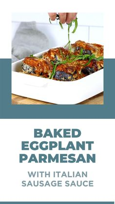 Healthy Salad Recipes, Meat Recipes, Baked Eggplant Slices, Sausage Pasta Sauce, Olive Garden Recipes, Eggplant Parmesan, Eggplant Recipes, Have Time, Italian Recipes