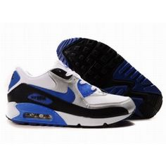 new style 9ca1b 53514 Nike Air Max 90 White Black Blue D05189 Air Max 90 Black, Blue Trainers,