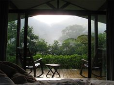 Ok - its not my porch and I'm not in Costa Rica - but on a rainy day it can still be my own paradise!!