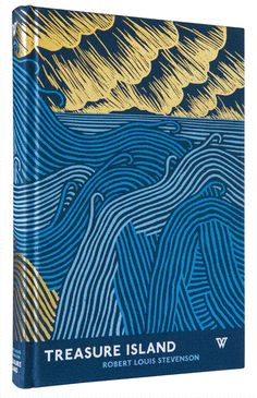 Cover and spine for Treasure Island, published by White's Books. Illustrated by Stanley Donwood.