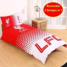 Liverpool Football Club Fc Single Duvet Quilt Cover Set Boys Kids Bedroom