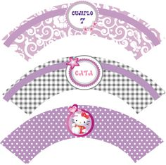 wrappers para cupcakes kitty