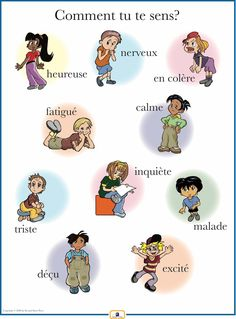 French Emotions Poster