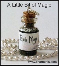 A Bottle Of Magic Mini Bottle Necklace by CharmthisClayCharms, $6.00