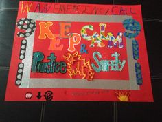 Fire safety poster!... Fire Safety Poster, Safety Posters, Fire Prevention Week, Educational Activities, School Fun, Bulletin Boards, Nursing, Kids Rugs, Community