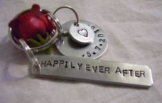 Happily ever after hand stamped anniversary by glamgirlspretties, $15.00