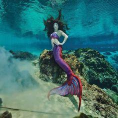 Weeki Wachee springs mermaid. Silicone mermaid tail by Mernation