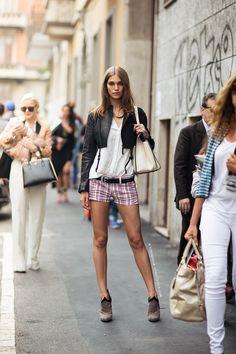 short y tacón #moda #tendencia