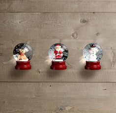Mini gift to get someone in the Christmas spirit! Mini Snow Globes (Set of 3) at Restoration Hardware $19