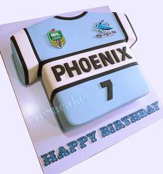 Cronulla Sharks Jersey Birthday Cake
