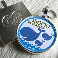 Blue Whales Pet ID Tag